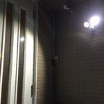 LEDセンサーライト取り付け工事